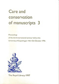 Care and Conservation of manuscripts 3