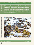 Effects of climate variation on the breeding ecology of Arctic shorebirds